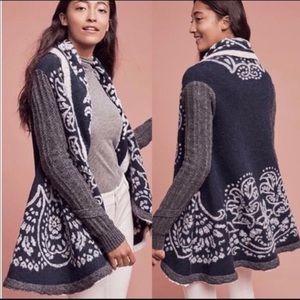 Anthropologie Sweaters - Anthropologie Sleeping on Snow sweater coat